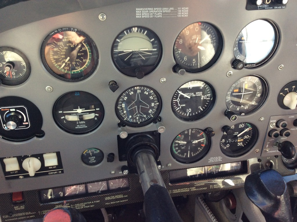 """CLIMBING OUT OF 3000 FT. - 500 F.P.M. AT CLIMB SETTING 35"""" X 25' DOING 129 KNOTS"""