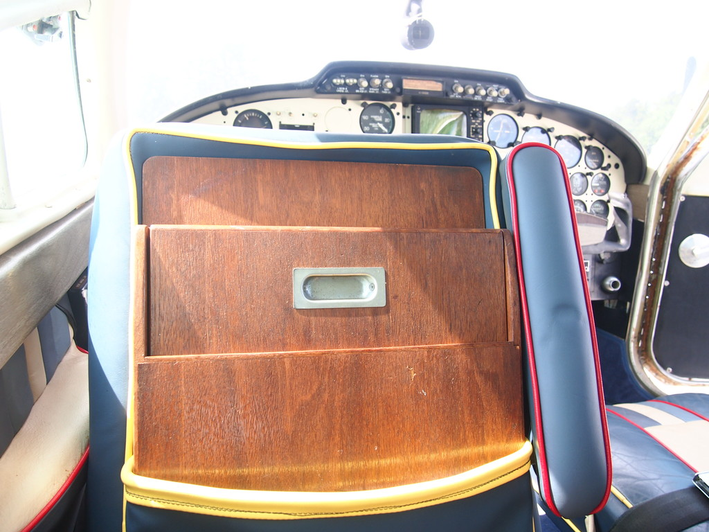 Table behind pilot seat