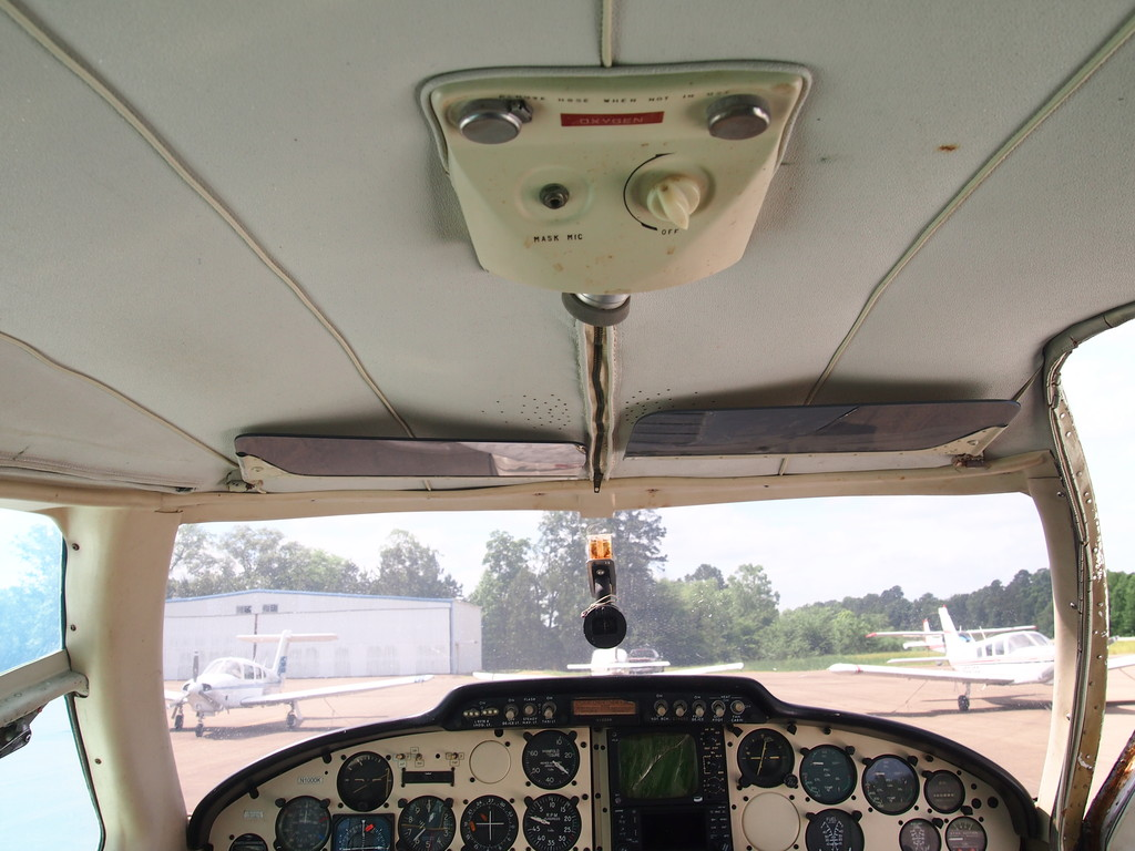 showing the headliner is in fair condition and Plexiglas is recent