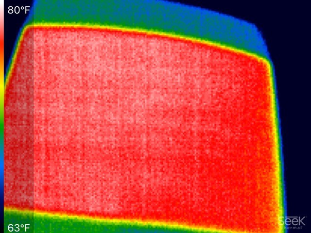 INFRARED PHOTO FOR WINDSHIELD HEAT LO