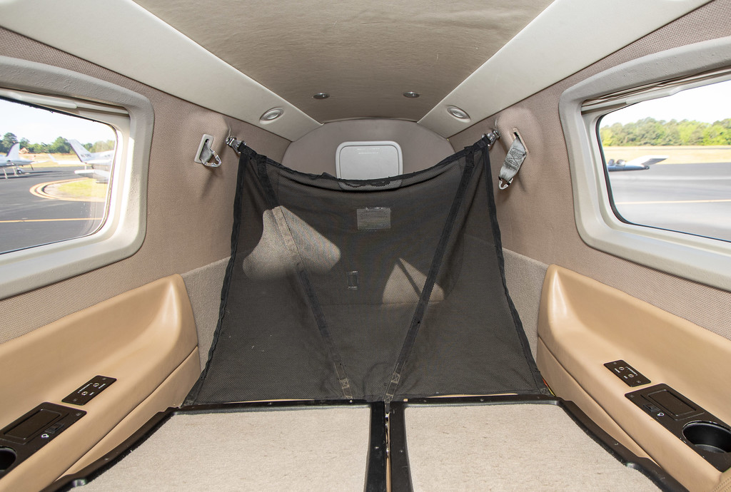 Rear seat folded down looking at aft baggage