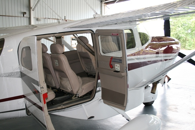 Passenger loading is seamless with the extra wide opening clamshell doors.