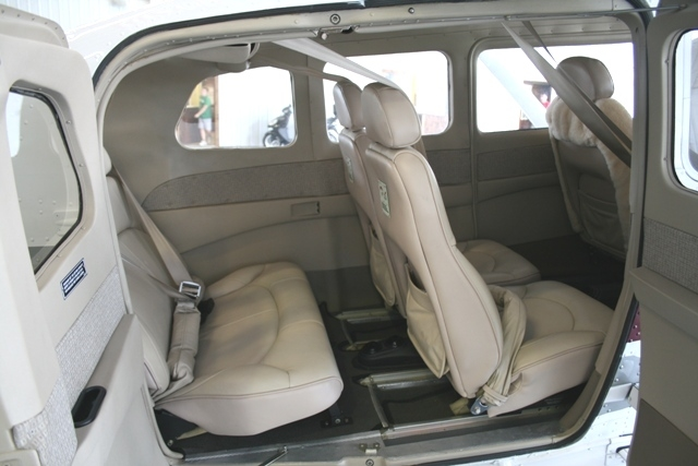 Leather!  Up to four passengers ride in complete comfort.