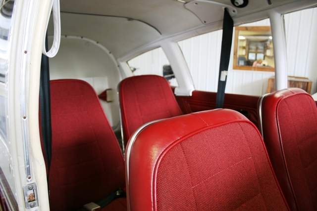 Four seats in resiliant fabric and vinyl.  There is little work to be done on this airplane, inside or out!